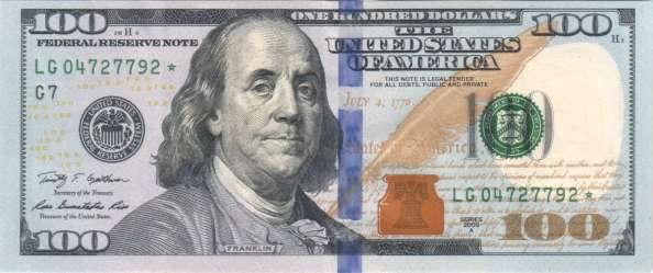 ben franklin 100 dollar bill