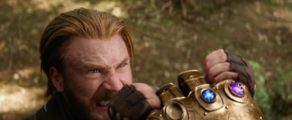 Cap holding up against Thanos