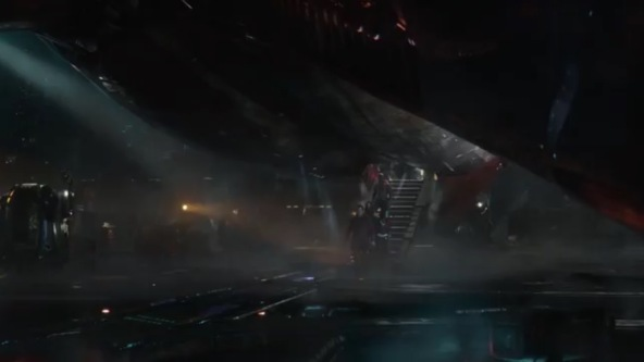 Guardians on Thanos spaceship