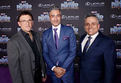Taika with the Russo Brothers.png