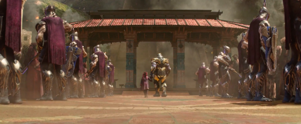 thanos and gamora move forward