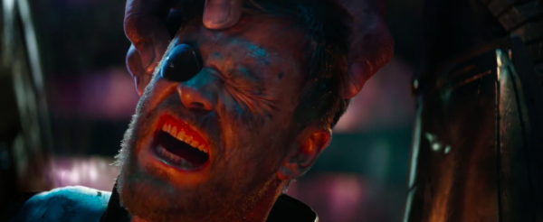 Thor getting his head crushed by Thanos