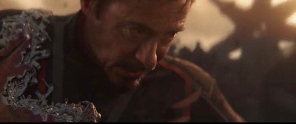 Tony Stark with broken armor