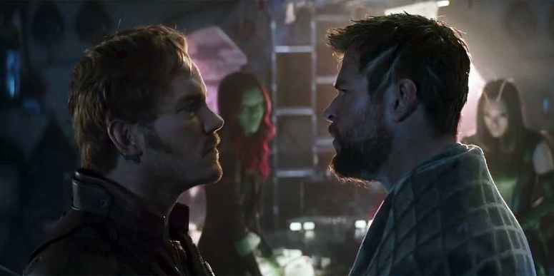 Star-Lord and Thor Infinity War