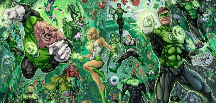 green lanterns in space