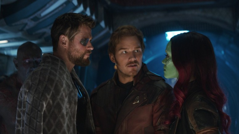Thor, Star-Lord, Gamora