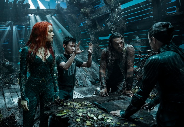 James Wan, Amber Heard, Jason Momoa Aquaman.jpg